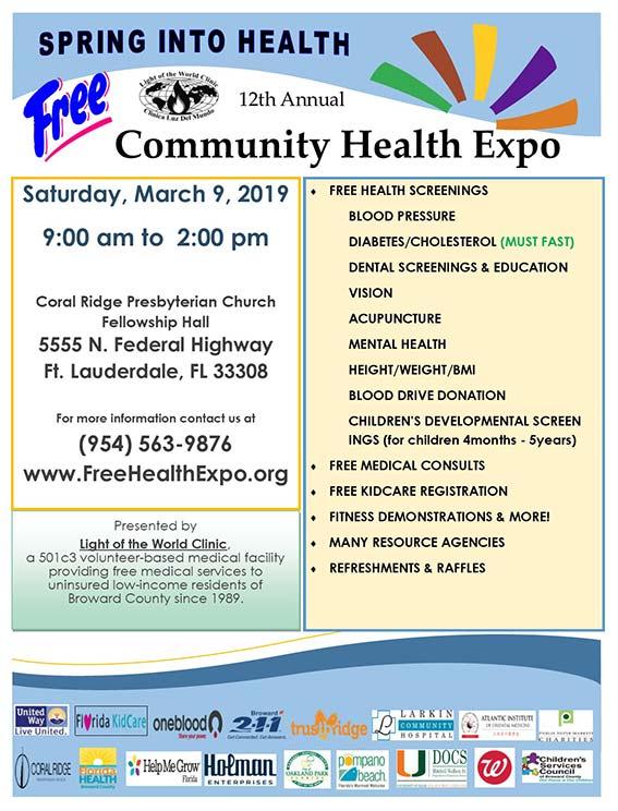 Community Health Expo Light Of The World Clinic